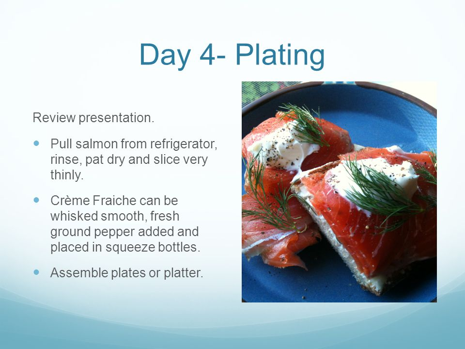 Day 4- Plating Review presentation.