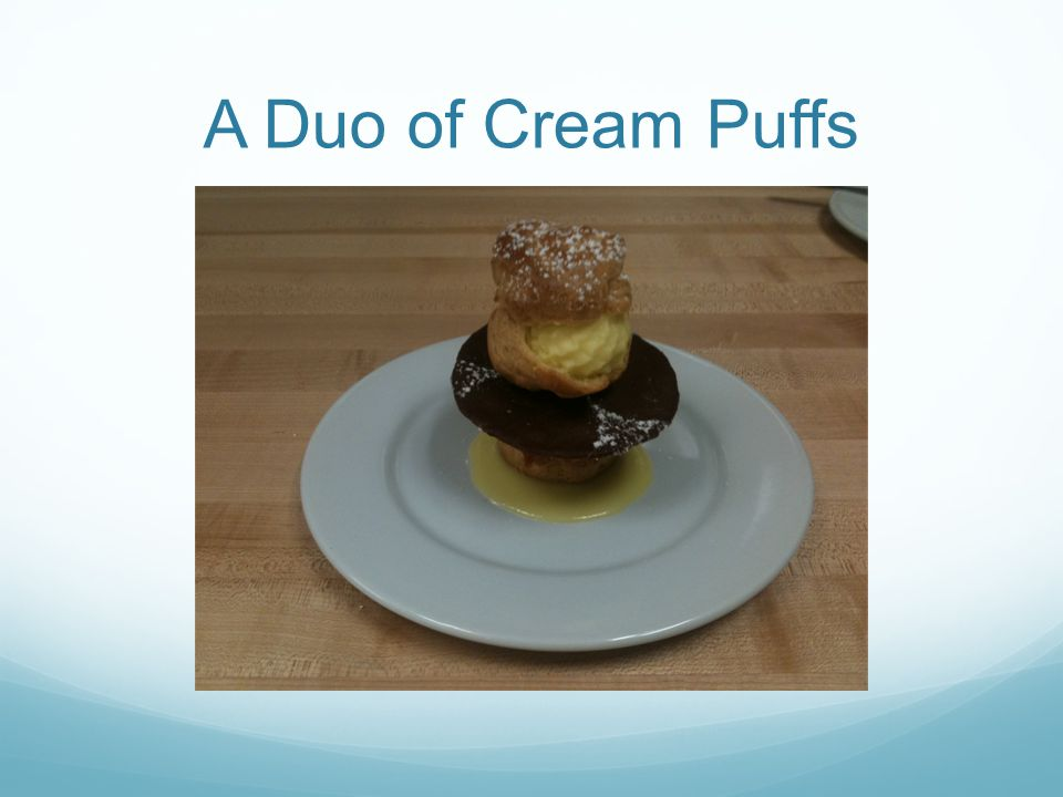 A Duo of Cream Puffs