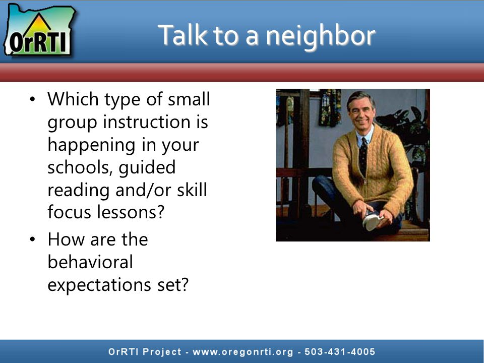 Which type of small group instruction is happening in your schools, guided reading and/or skill focus lessons.