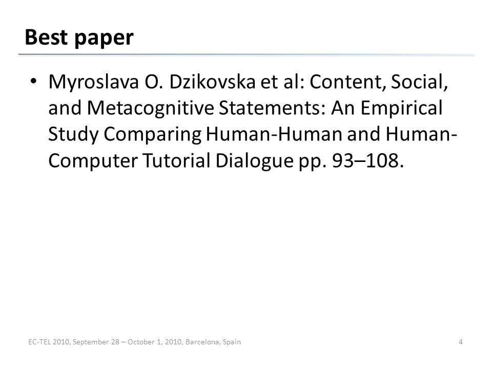 Best paper Myroslava O.