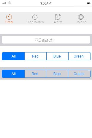 9:00AM Search bar & Search Scope Bar Search All RedGreen Blue All RedGreen Blue TimerStop WatchAlarmWorld