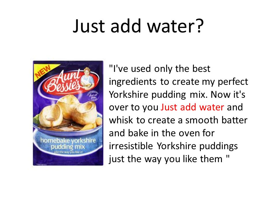 I ve used only the best ingredients to create my perfect Yorkshire pudding mix.