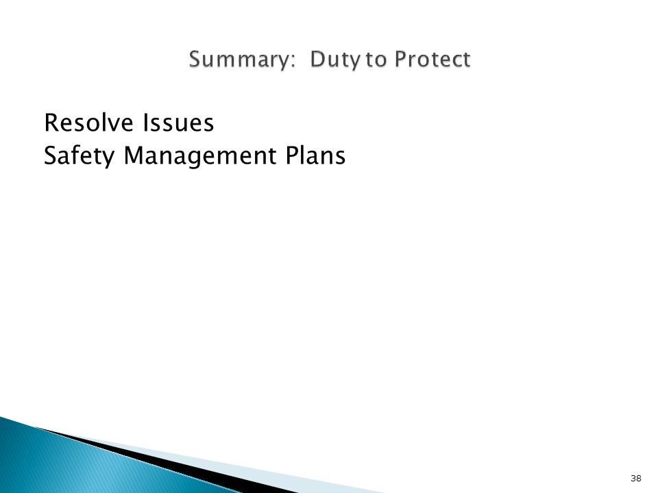 Resolve Issues Safety Management Plans 38