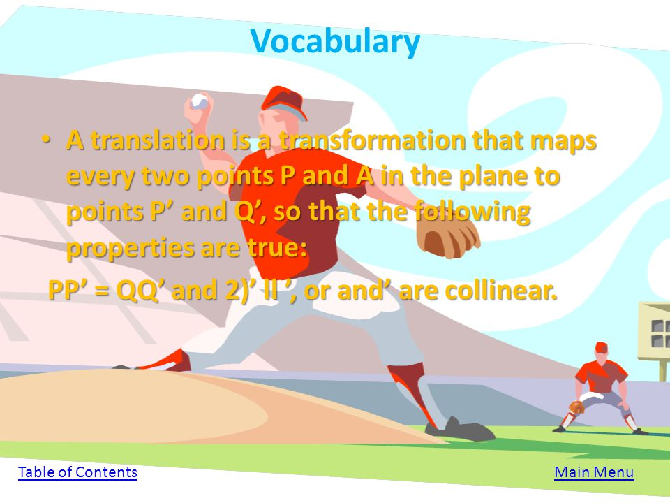 Summary Translations are basically the sliding of a shape from one section to another section. On a grid you can find a translated figure if you have