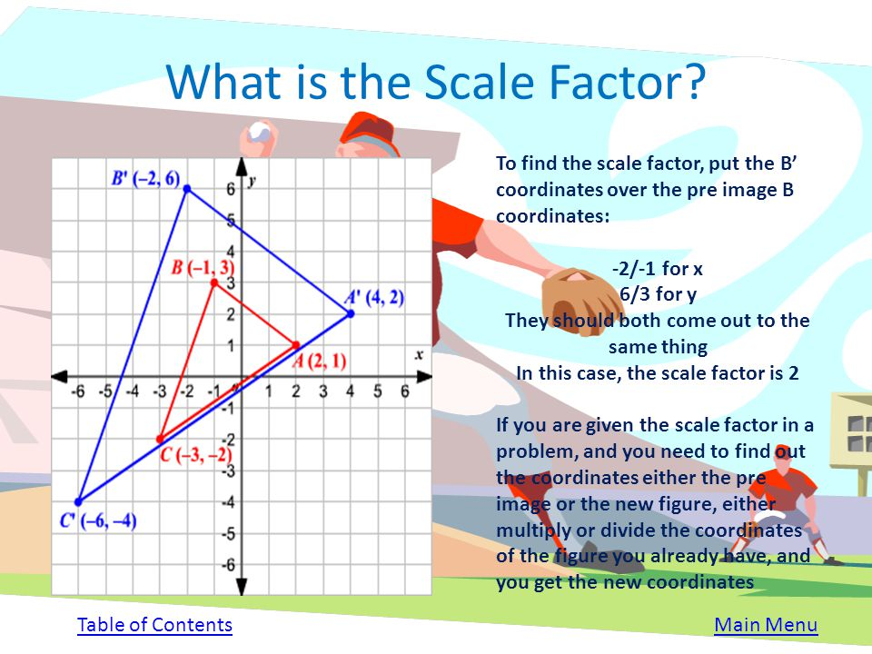 Scale Factor The amount by which an object enlarges or reduces is known as the scale factor If the scale factor is a number of a fraction larger than