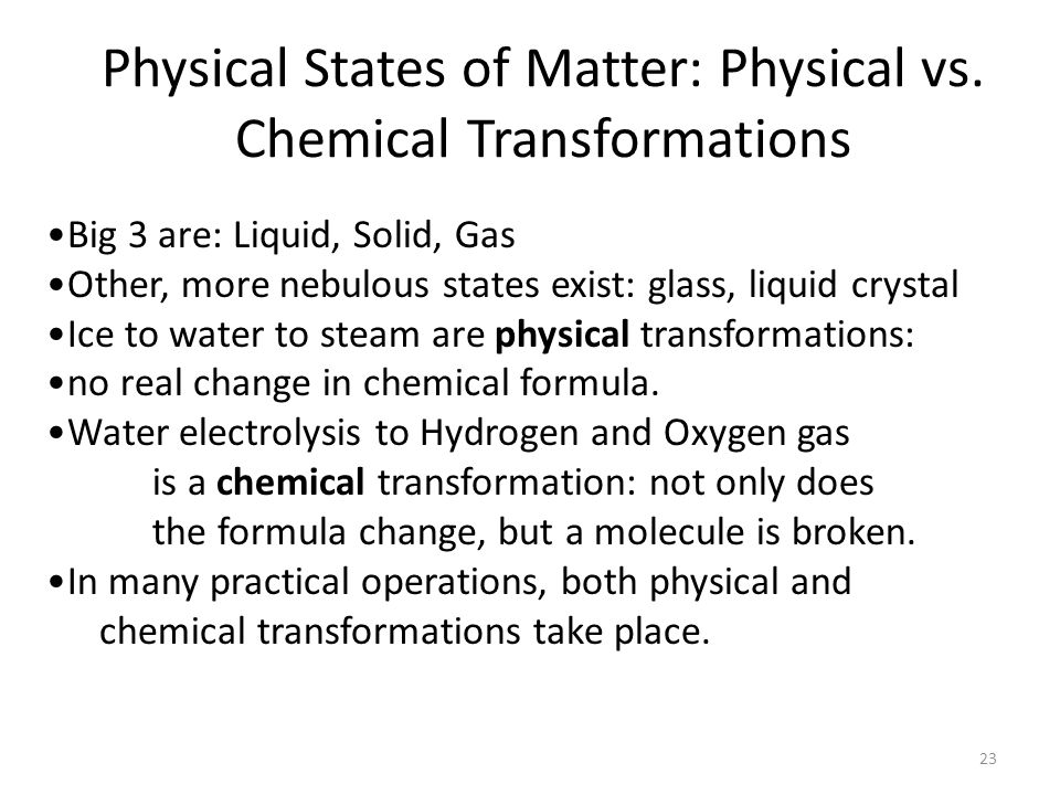 Physical States of Matter: Physical vs.