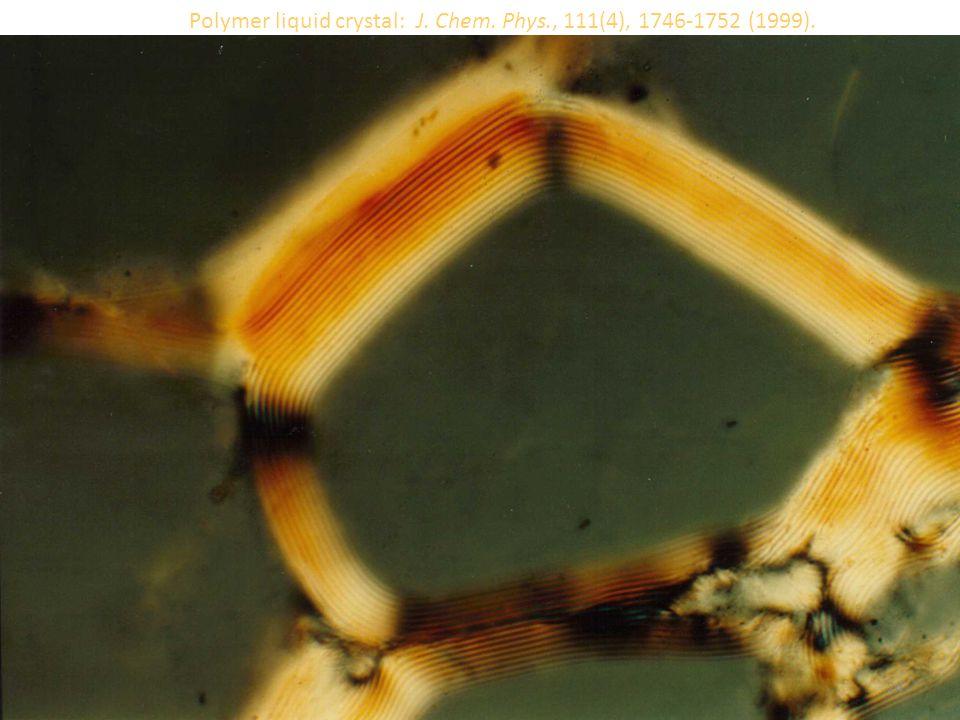 Polymer liquid crystal: J. Chem. Phys., 111(4), 1746-1752 (1999). 24