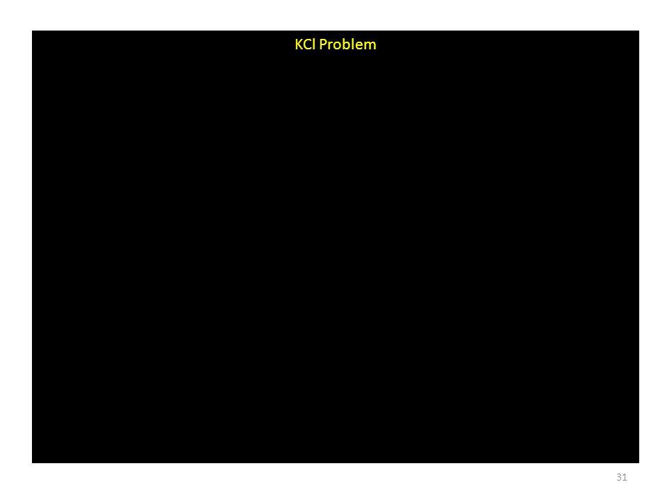 KCl Problem 31