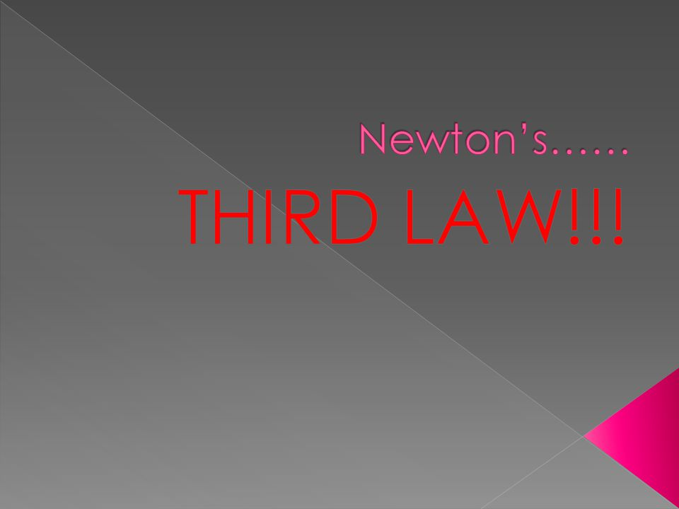  What is Newton's third law?  What are some examples???