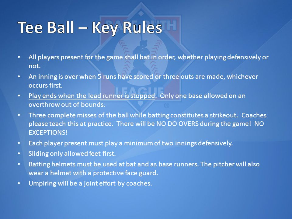 All players present for the game shall bat in order, whether playing defensively or not.