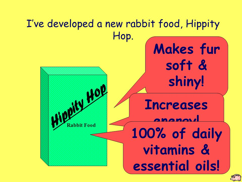 Rabbit Food Hippity Hop Rabbit Food makes fur soft and shiny, & increases energy for ALL types of rabbits.