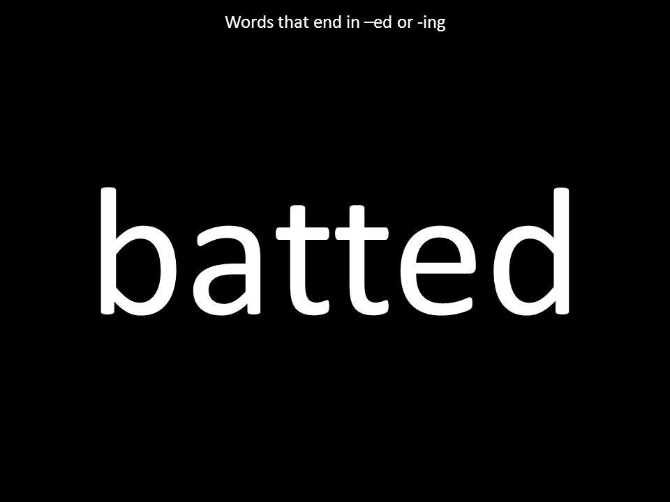 bellowed vocabulary
