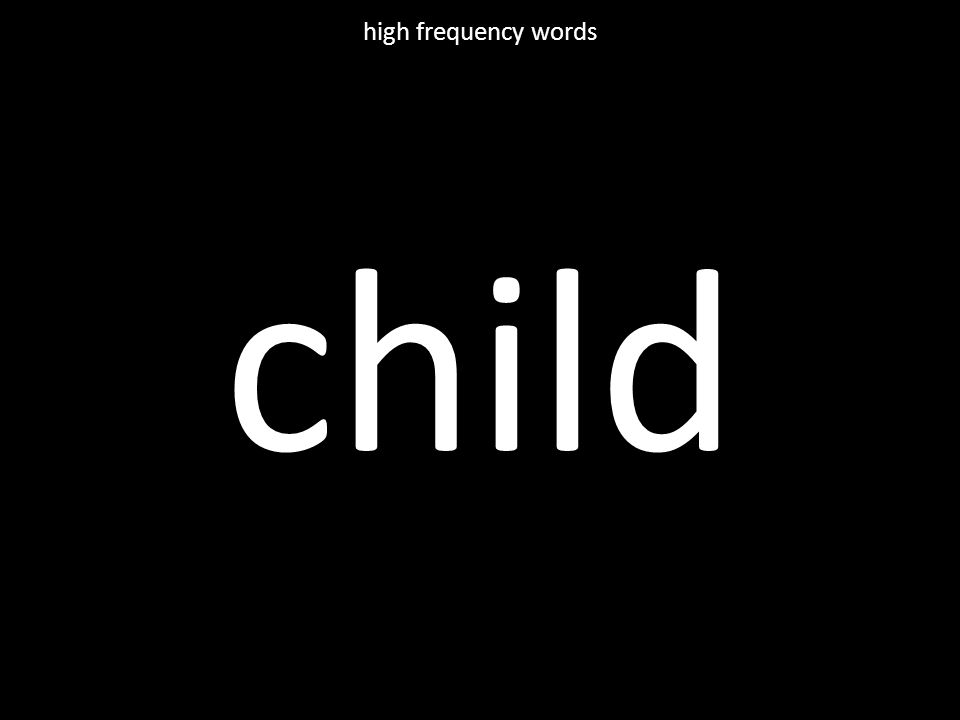 child high frequency words