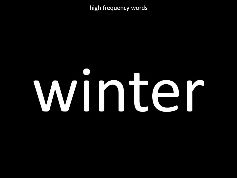winter high frequency words