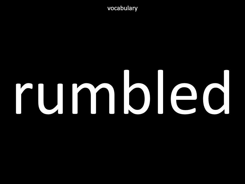 rumbled vocabulary