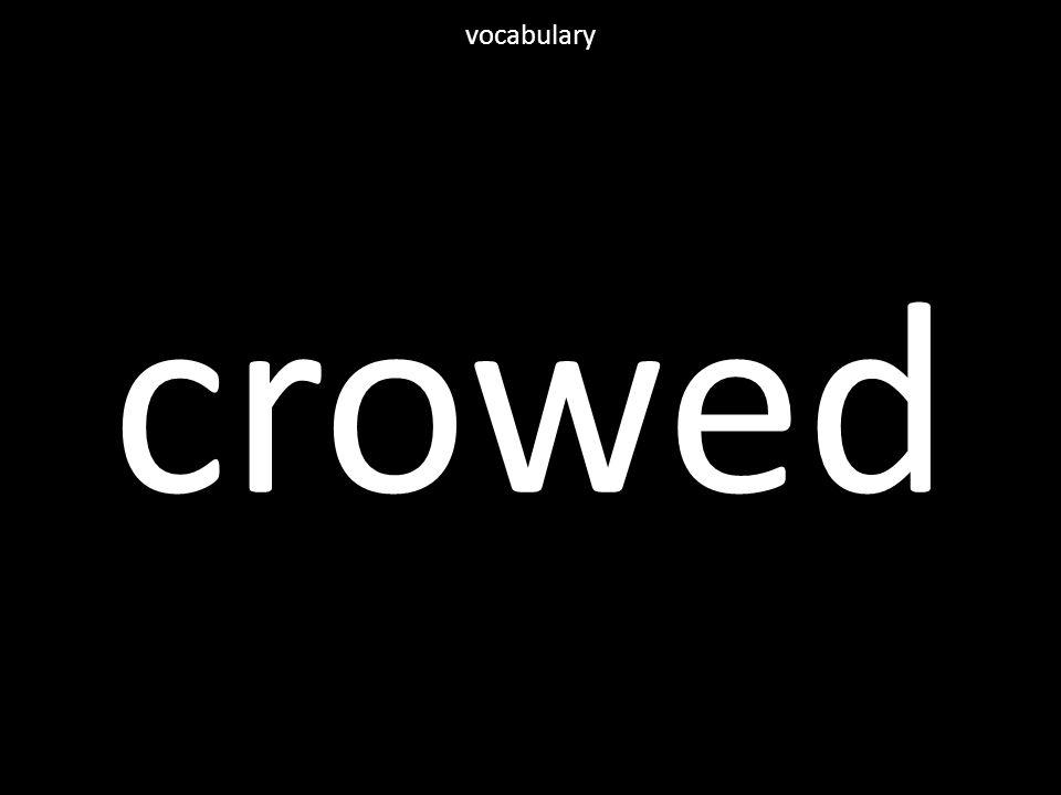 crowed vocabulary