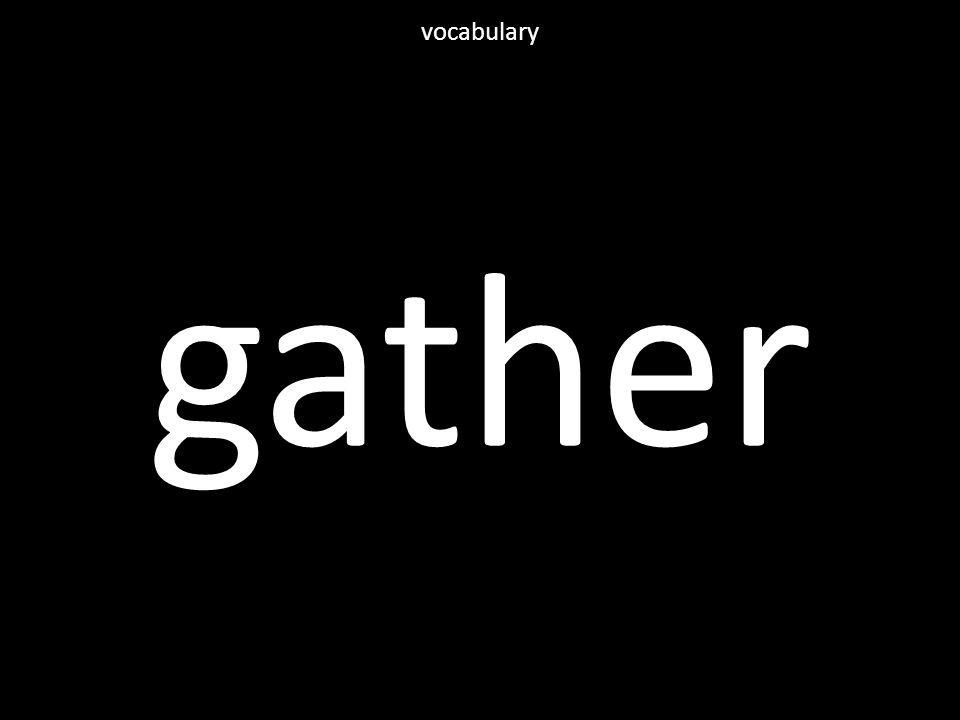 gather vocabulary