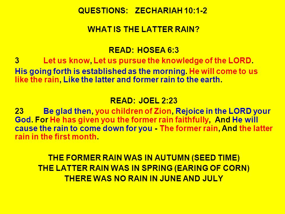 QUESTIONS:ZECHARIAH 10:7-8 8I will whistle for them and gather them, For I will redeem them.