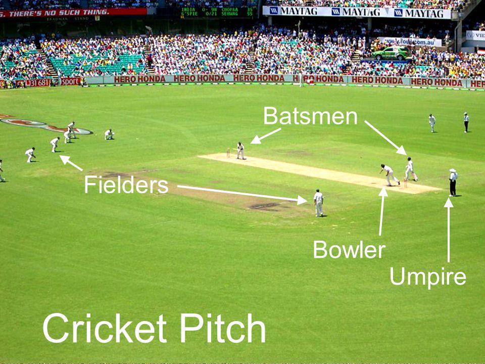 Cricket Pitch Batsmen Bowler Fielders Umpire