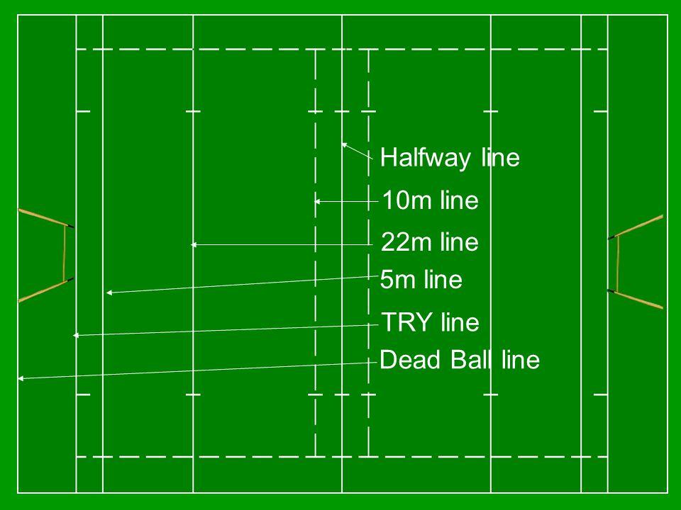 Halfway line 10m line 22m line TRY line Dead Ball line 5m line