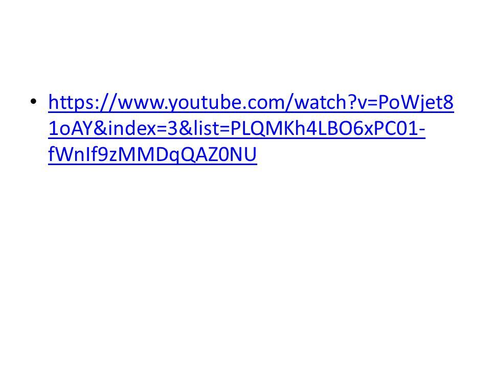 https://www.youtube.com/watch v=PoWjet8 1oAY&index=3&list=PLQMKh4LBO6xPC01- fWnIf9zMMDqQAZ0NU https://www.youtube.com/watch v=PoWjet8 1oAY&index=3&list=PLQMKh4LBO6xPC01- fWnIf9zMMDqQAZ0NU