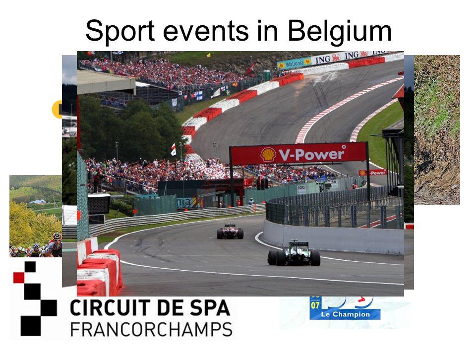Sport events in Belgium