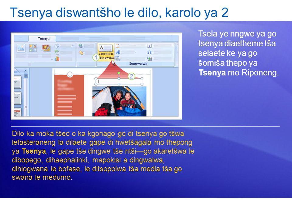 Tsenya diswantšho le dilo, karolo ya 2 Tsela ye nngwe ya go tsenya diaetheme tša selaete ke ya go šomiša thepo ya Tsenya mo Riponeng.