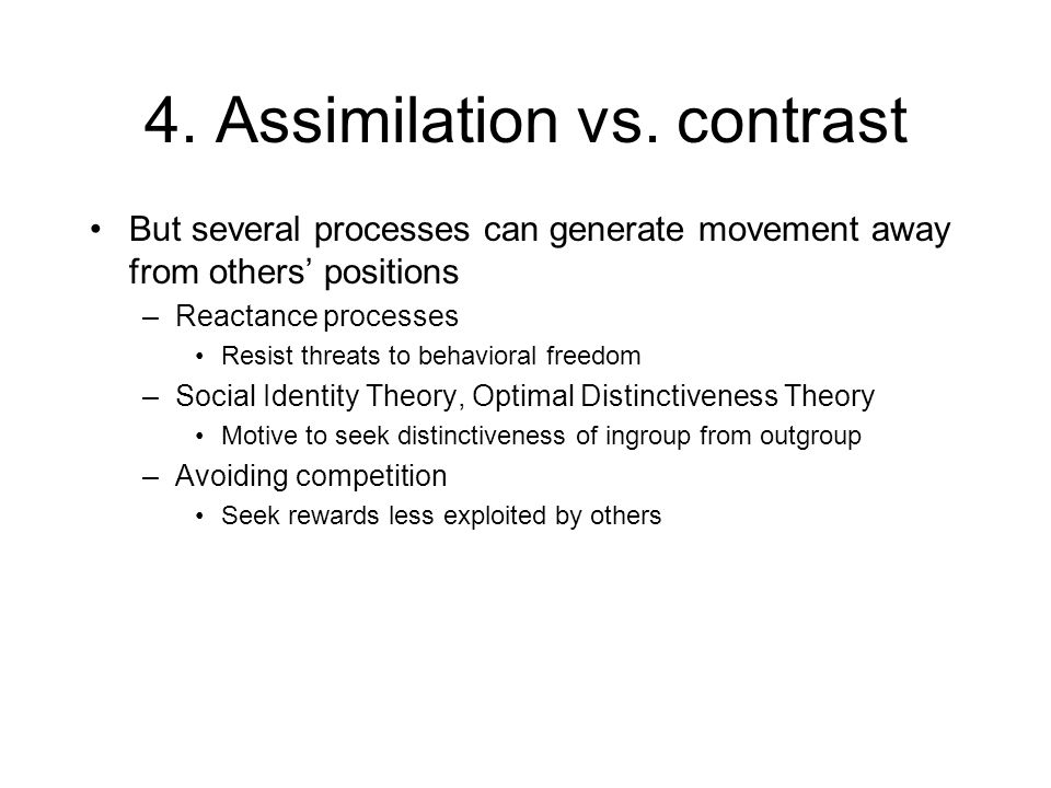 4. Assimilation vs.