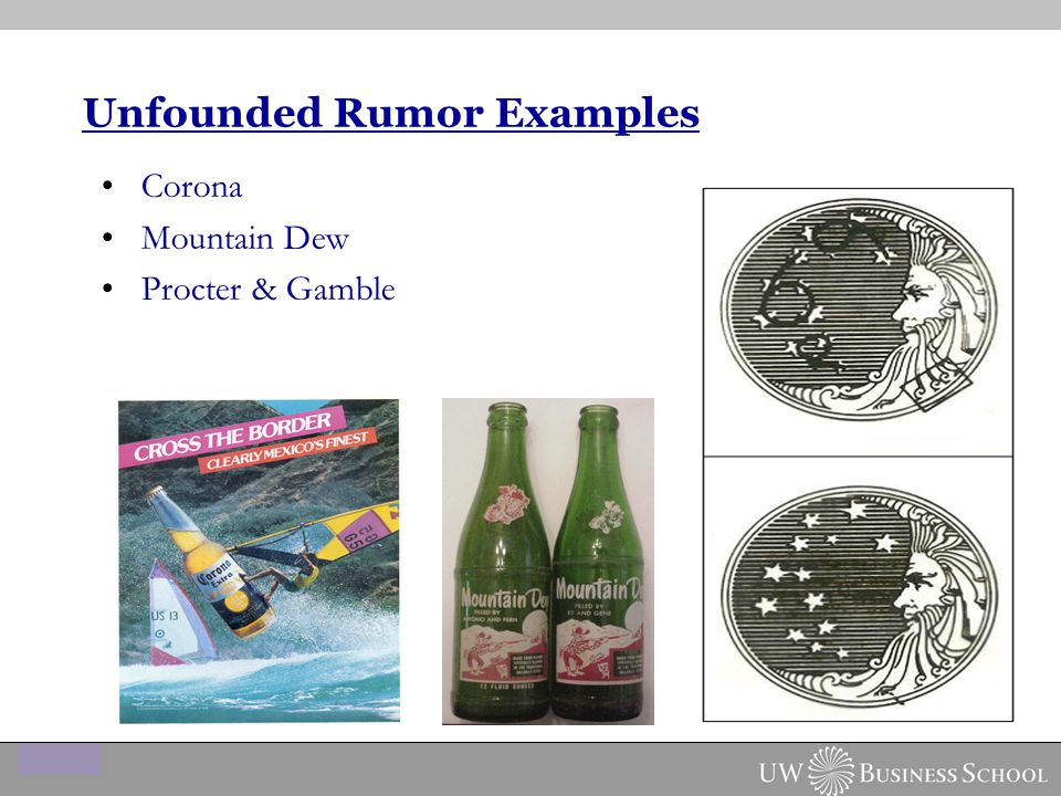 Unfounded Rumor Examples Corona Mountain Dew Procter & Gamble