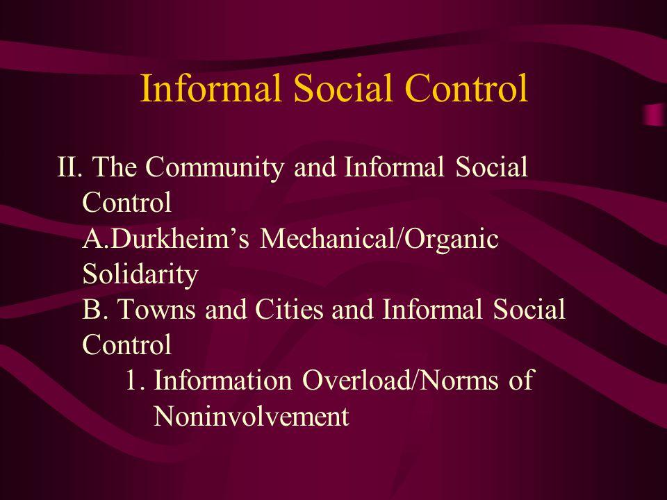 Informal Social Control II.