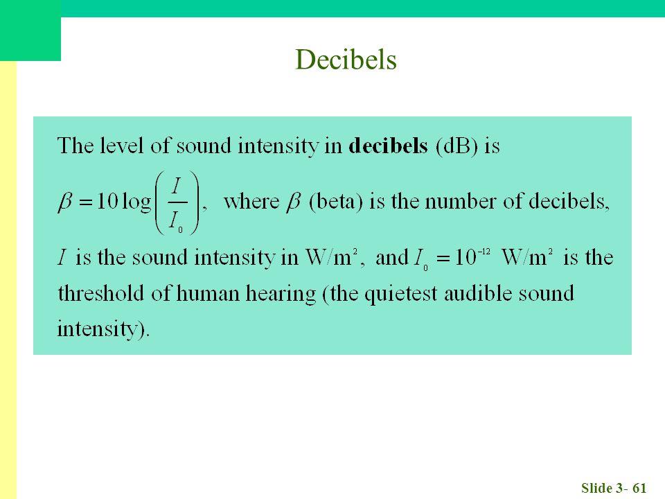 Slide 3- 61 Decibels