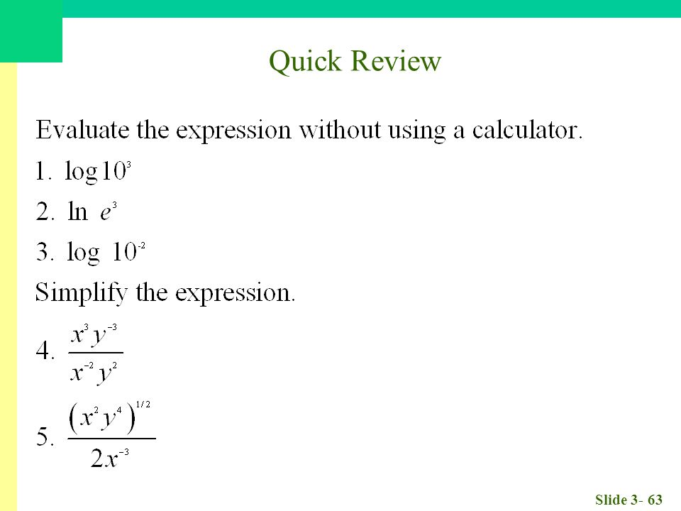 Slide 3- 63 Quick Review