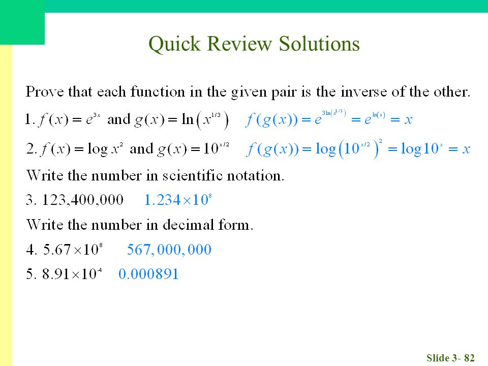 Slide 3- 82 Quick Review Solutions