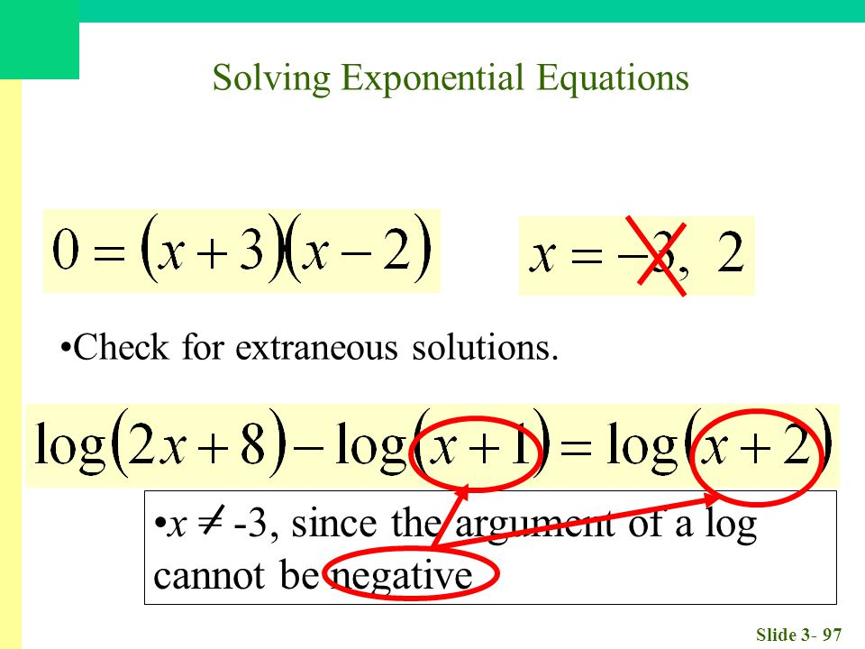 Slide 3- 97 Check for extraneous solutions.
