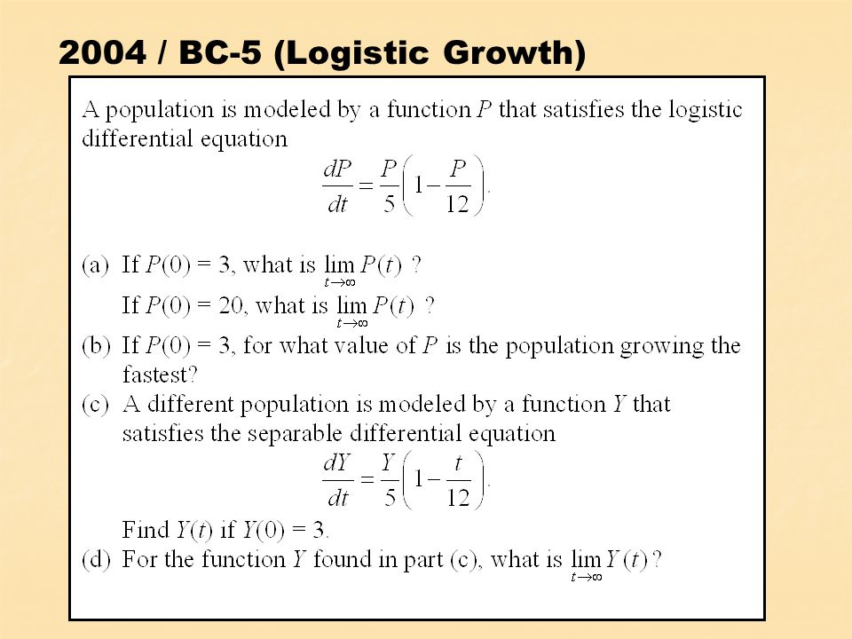 2004 / BC-5 (Logistic Growth)