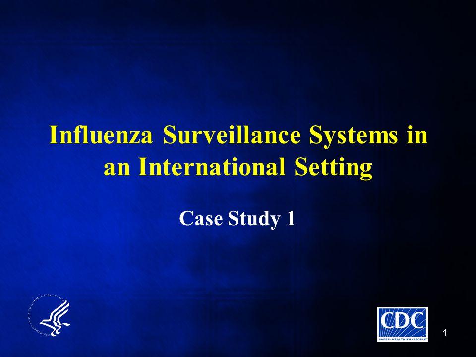 Influenza Surveillance Systems in an International Setting Case Study 1 1