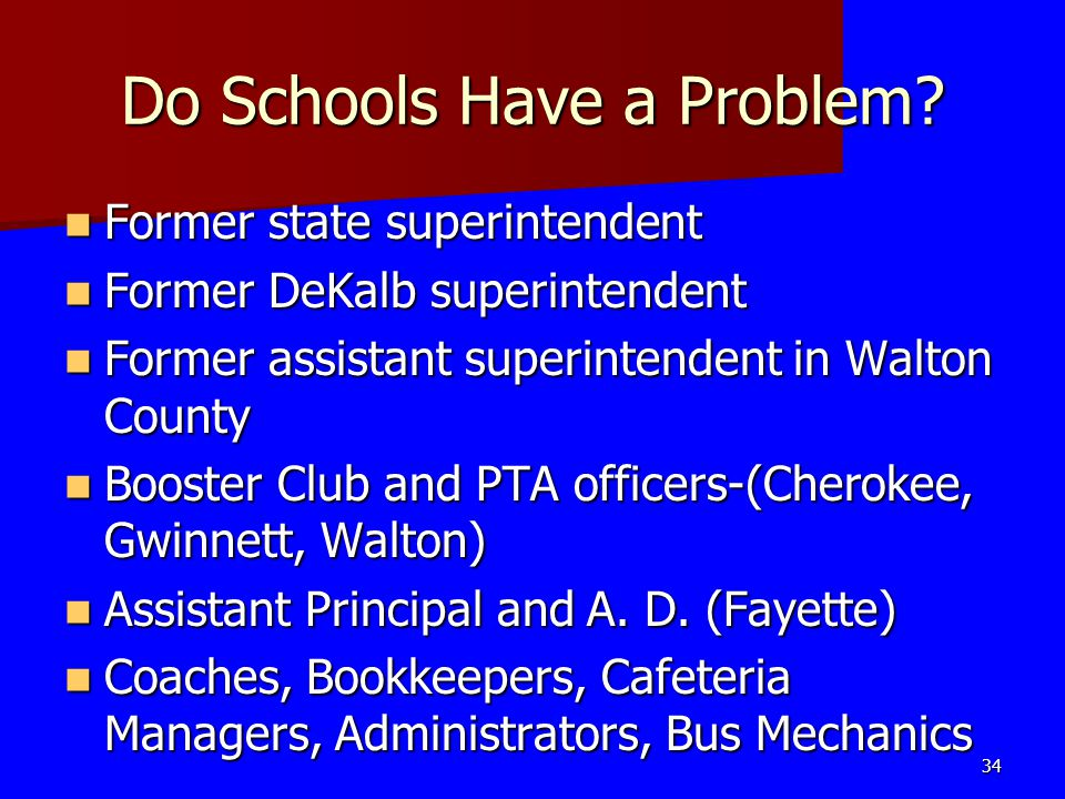 Do Schools Have a Problem.