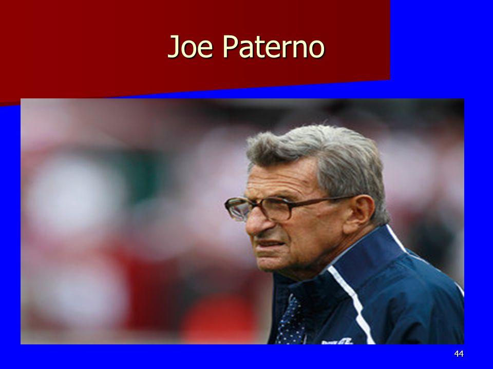 Joe Paterno 44