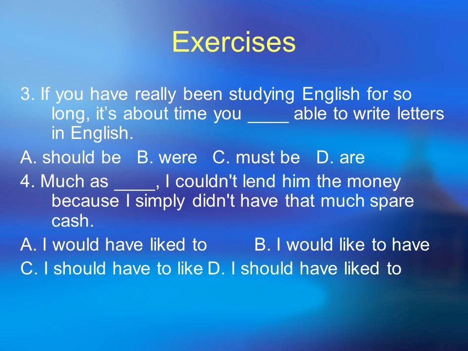 Exercises 3.
