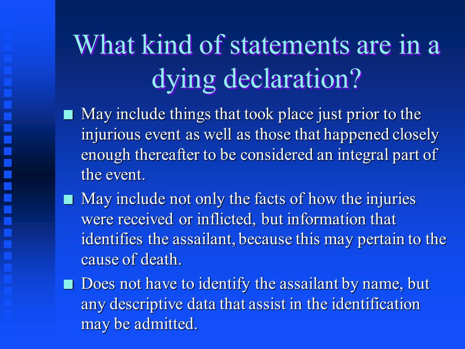 "A Noteworthy Quote Re: The Dying Declaration ""Hear the beats of the Wings of the Angel of Death."" Supreme Court Justice Oliver Wendell Holmes"