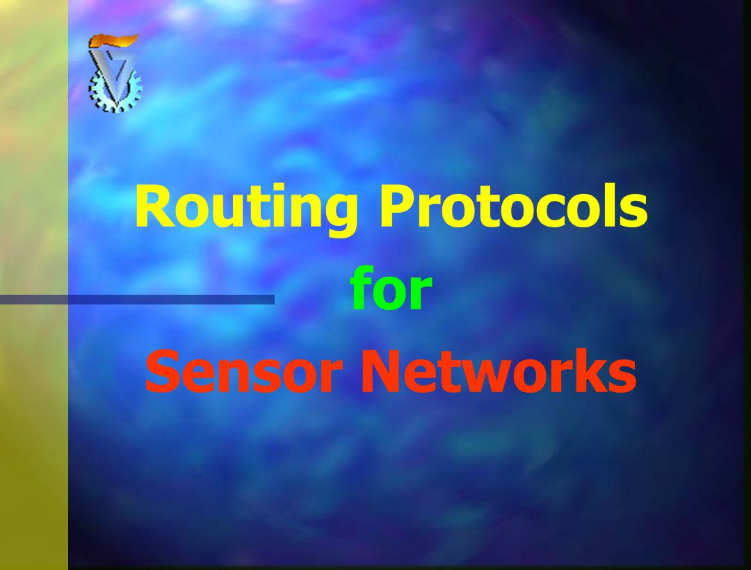 Agenda n General Properties n Architectures and Requirements n Routing Protocols Classification n 10 Suggested Routing Protocols: n LEACH n PEGASIS n TEEN n APTEEN n SPIN n DD n MCF n TTDD n RW n RR