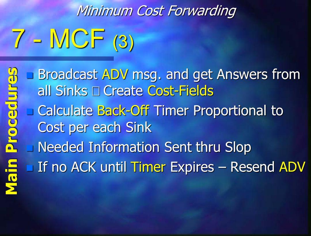 7 - MCF (3) Broadcast ADV msg.