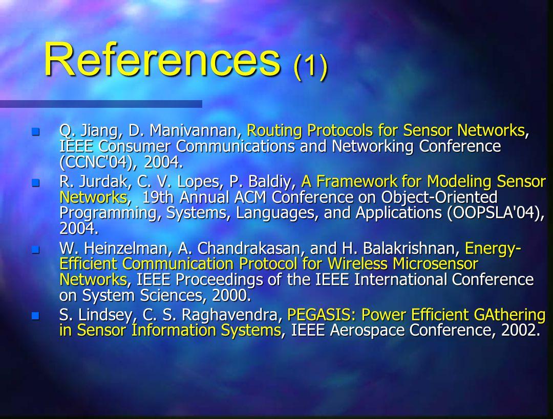References (1) n Q. Jiang, D.