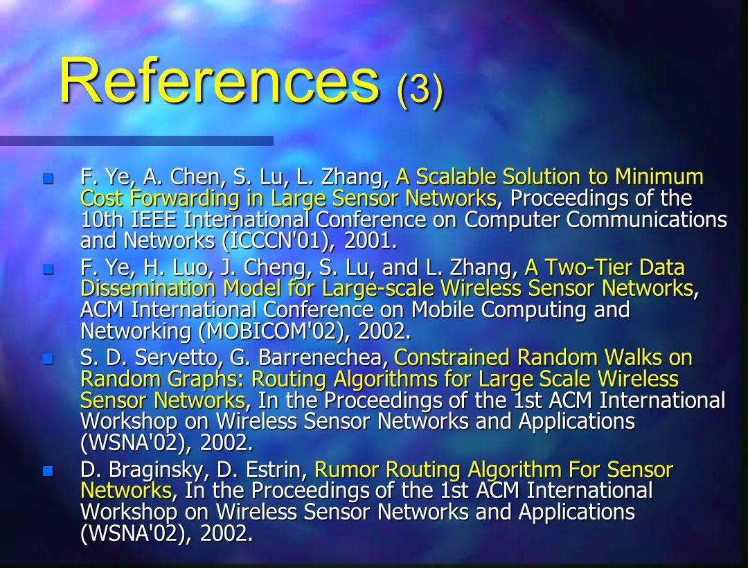 References (3) n F. Ye, A. Chen, S. Lu, L.
