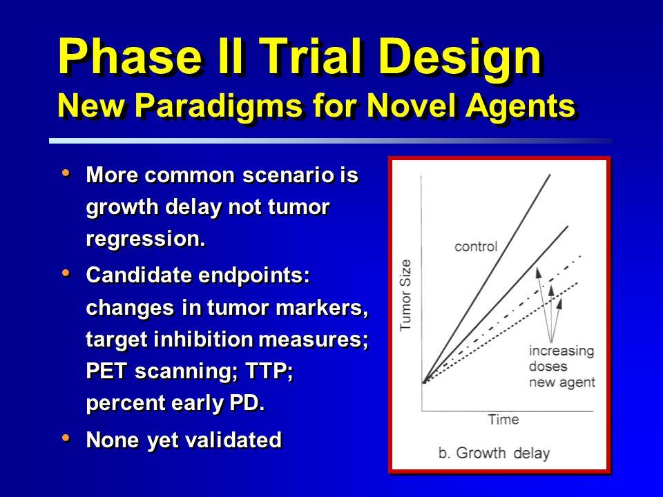 More common scenario is growth delay not tumor regression.
