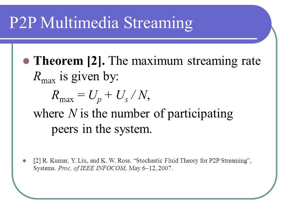 P2P Multimedia Streaming Theorem [2].