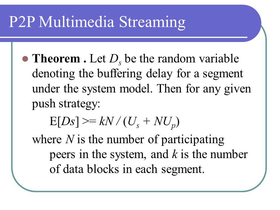P2P Multimedia Streaming Theorem.