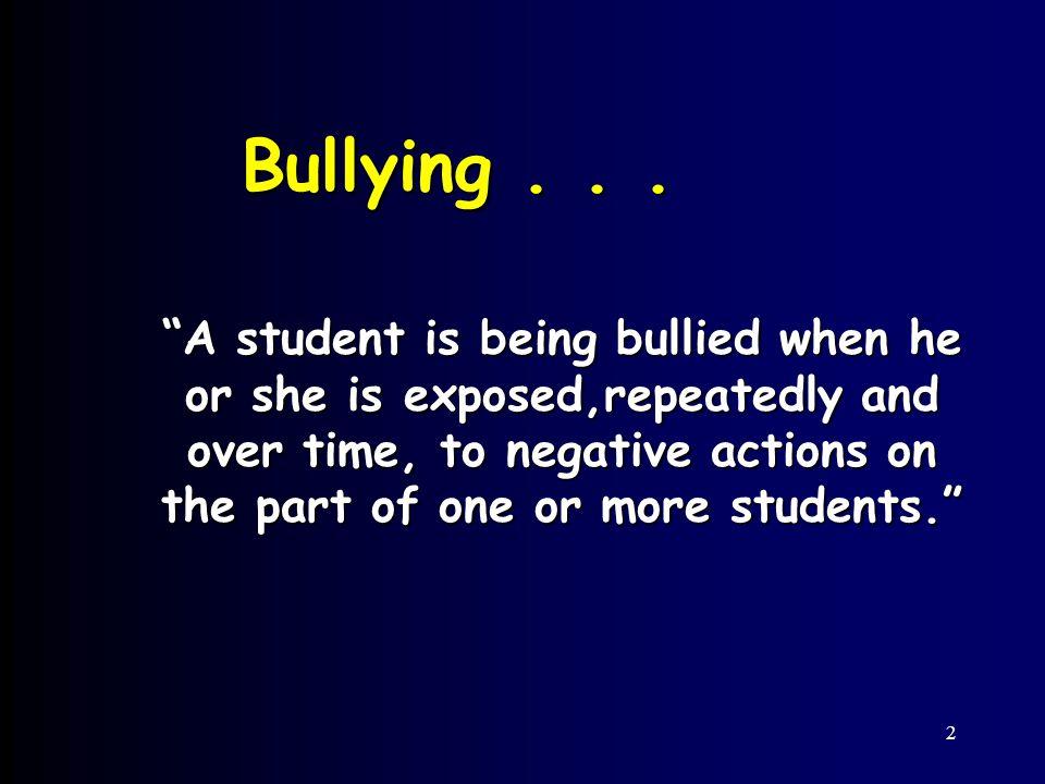2 Bullying...