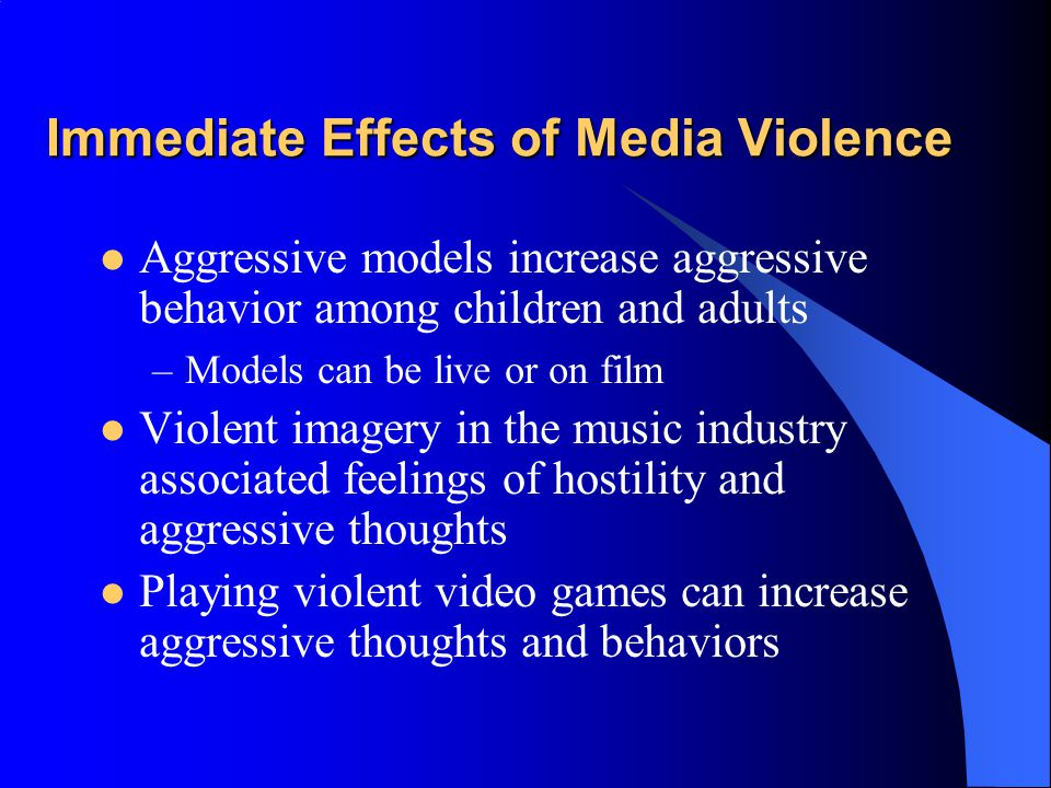 How Strong is the Relationship Between Media Violence and Real-World Aggression? From Dorothy G. Singer and Jerome L. Singer (eds.), Handbook of Child
