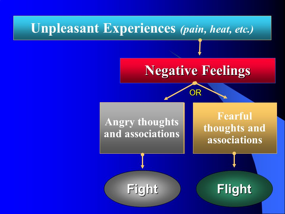 Cognitive Neoassociation Analysis Theory that feelings and thoughts interact –Unpleasant experiences create negative affect –Negative affect stimulates associations connected with anger and fear How one responds to these automatic thoughts and emotions is influenced by higher level cognitive processing